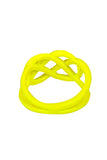 Yellow Neon Dipped Pretzel Ring - My Jewel Candy - 2