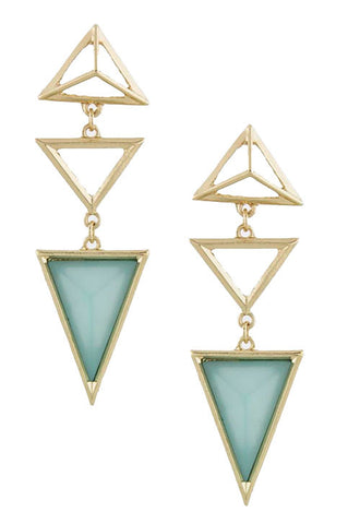 Triangle Droplet Earrings (Sage) - My Jewel Candy - 1
