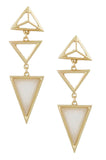Triangle Droplet Earrings (Sage) - My Jewel Candy - 2