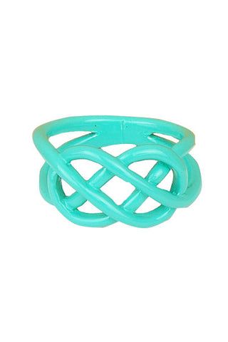 Mint Dipped Pretzel Ring - My Jewel Candy - 1