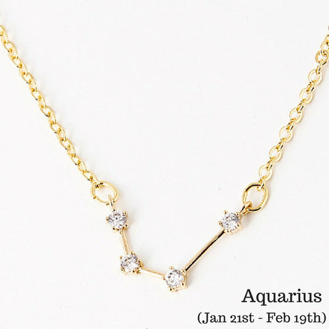 Aquarius Constellation Zodiac Necklace (01/21 - 2/18) - As seen in Real Simple, People Magazine & more! - My Jewel Candy - 1