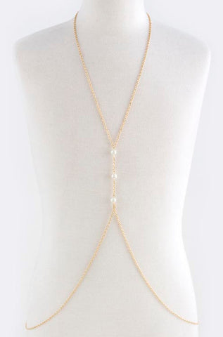 3 Pearls Body Chain - My Jewel Candy - 1
