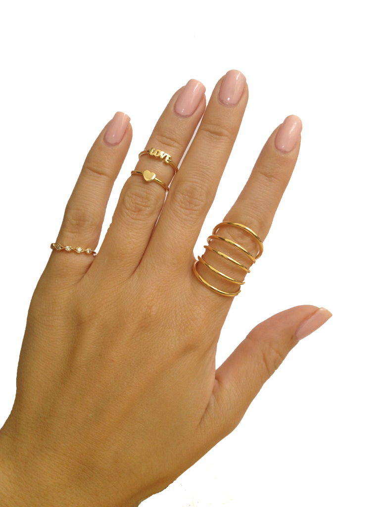 cat hudoca jewelry en paw rings dog double spiral ring