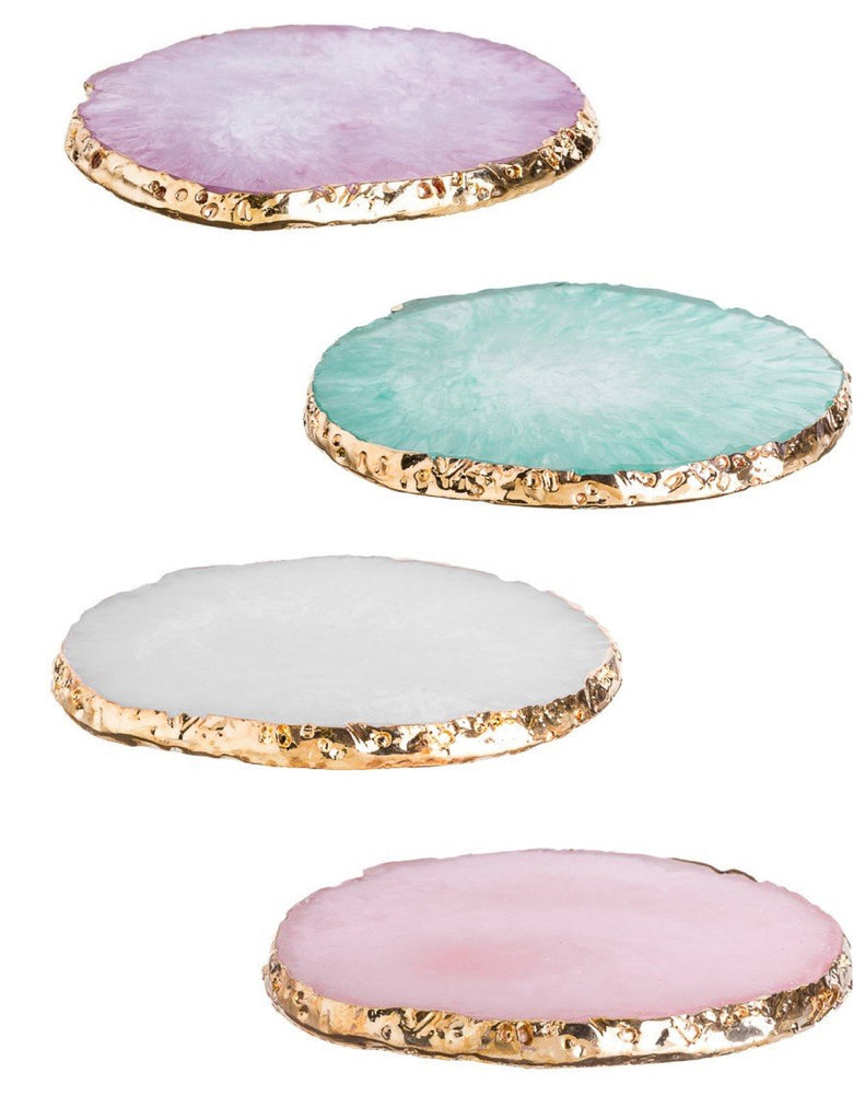 Gold Dipped Stone Coasters (Set of 4)  - Limited edition