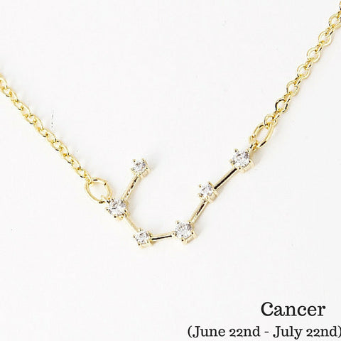 Cancer Constellation Zodiac Necklace (06/22-07/22) - As seen in Real Simple, People & more - My Jewel Candy - 1