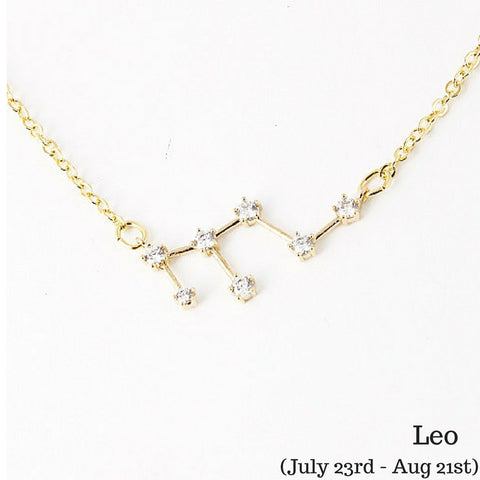 Leo Constellation Zodiac Necklace (07/23-08/21) - As seen in Real Simple & People Style Watch Magazines - My Jewel Candy - 1