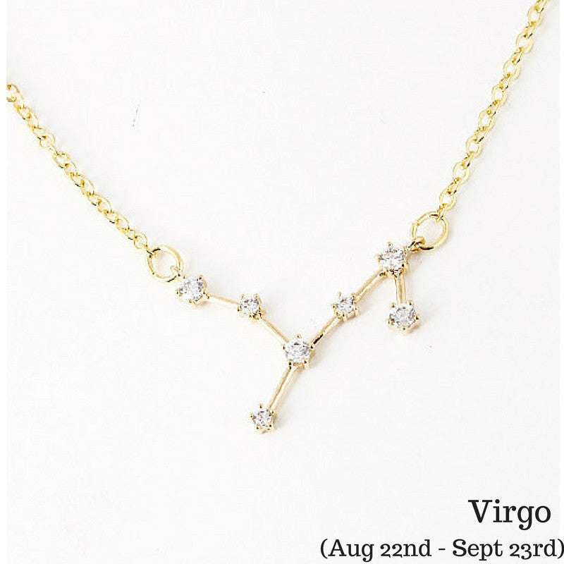 Virgo Celestial Constellation Zodiac Necklace (08/23-09/23) - As seen in Real Simple & People Magazine - My Jewel Candy - 1