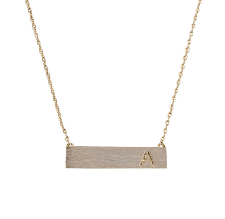 Letter Bar Necklace - My Jewel Candy - 1