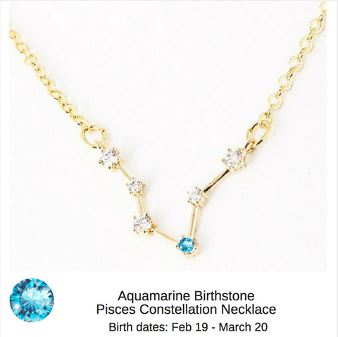 """Star Candy"" - Birthstone Constellation Zodiac Necklaces"