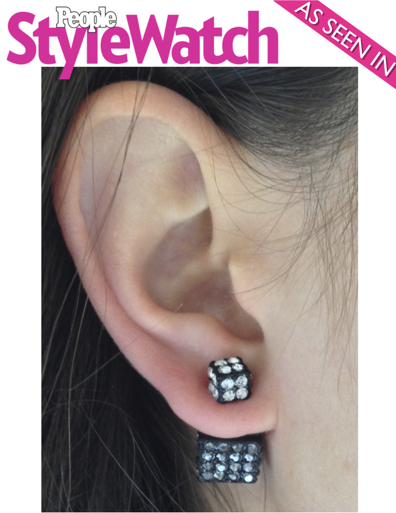 Double-Sided Cube Earrings (As seen in People Style Watch Magazine) - My Jewel Candy - 1