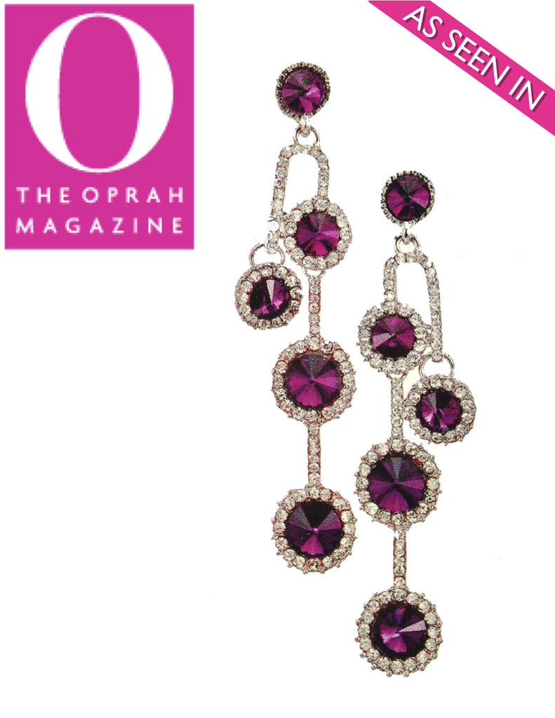 "Amethyst Droplet Earrings (As seen in Oprah's ""Favorite Things"" issue) - My Jewel Candy - 1"