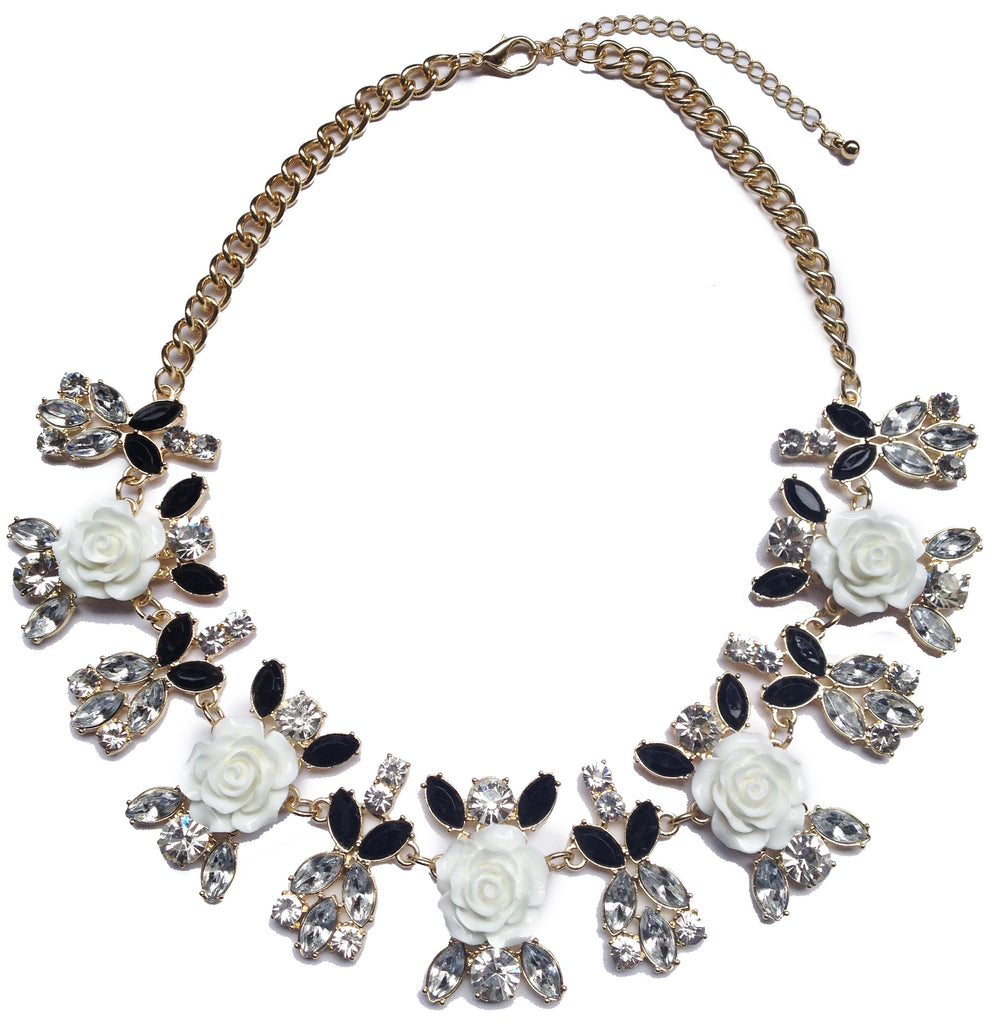 Flower Jeweled Necklace - My Jewel Candy