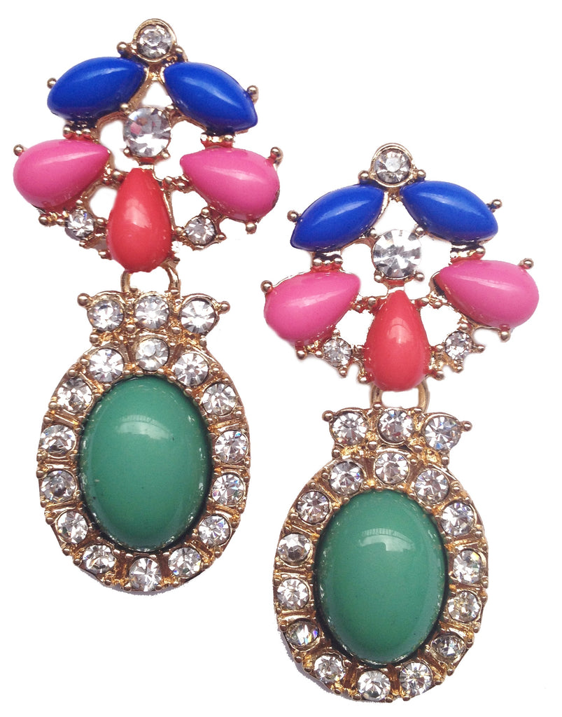Colorful Crystal Earrings - My Jewel Candy