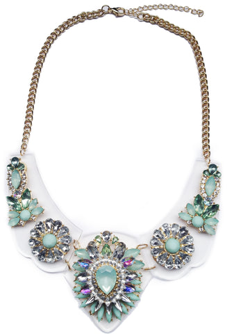 Mint Enchanted Gems Necklace - My Jewel Candy - 1