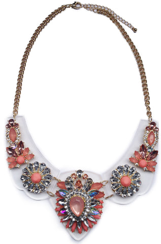 Peach Enchanted Gems Necklace - My Jewel Candy - 1