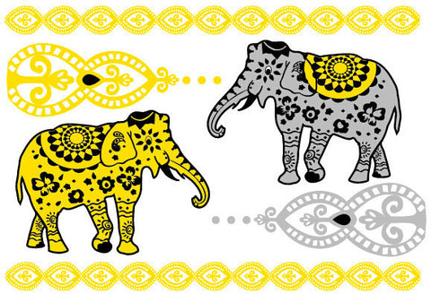 Bali Candy Temporary Jewelry Tattoos III (includes 4 sheets with 4 styles) - My Jewel Candy - 1