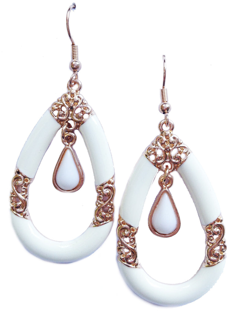 White Baroque Earrings - My Jewel Candy