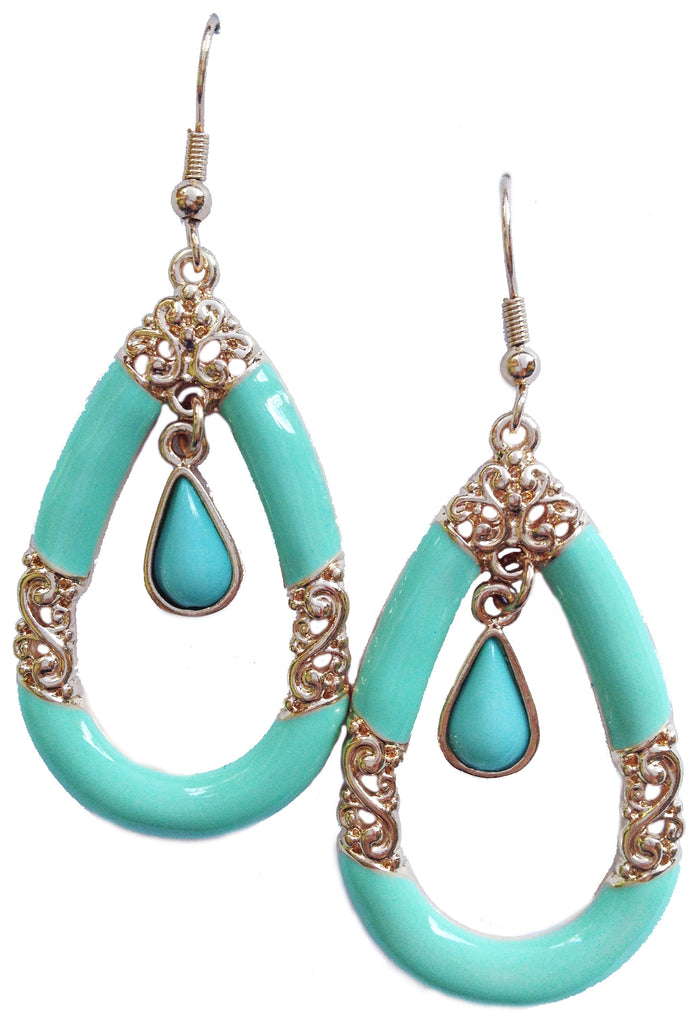 Mint Baroque Earrings - My Jewel Candy