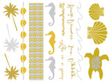 Life's a Beach Temporary Jewelry Tattoos (includes 4 sheets with 4 styles) - My Jewel Candy - 1