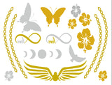 Life's a Beach Temporary Jewelry Tattoos (includes 4 sheets with 4 styles) - My Jewel Candy - 3