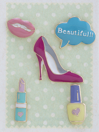 """Beauty Blogger"" Enamel Pin Set - My Jewel Candy - 1"