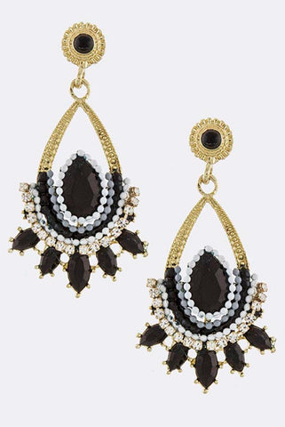 Black Nirvana Earrings - My Jewel Candy - 1