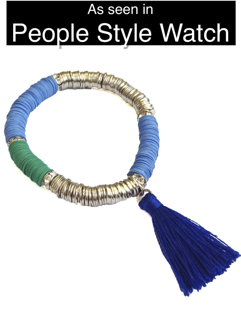 Tropical Tassel Bracelet - Shades of Blue - My Jewel Candy - 1
