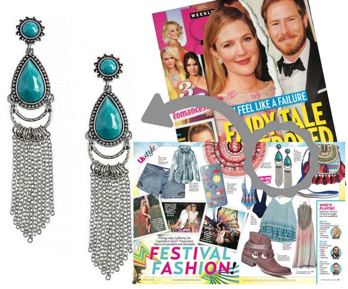 Boho Chic Earrings (As seen in Us Weekly) - My Jewel Candy - 1