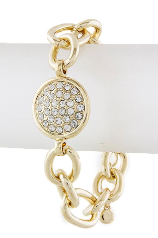 Crystal Button Chain Bracelet - My Jewel Candy
