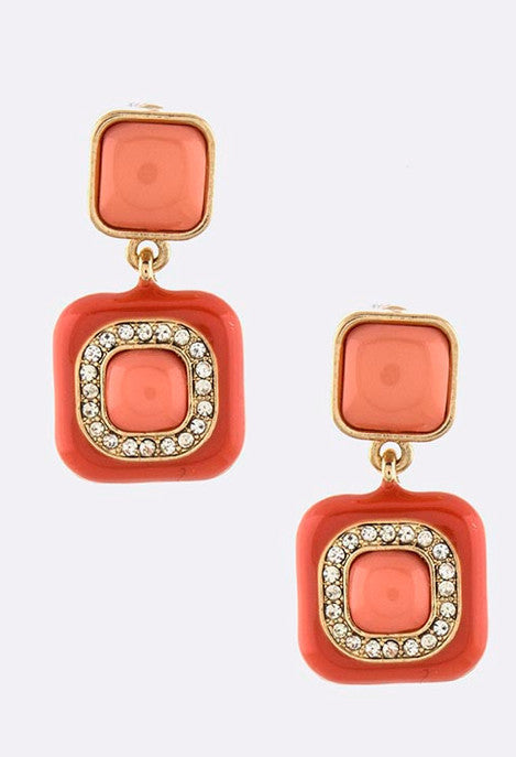 Jalepeno-Squares Earrings - My Jewel Candy - 1