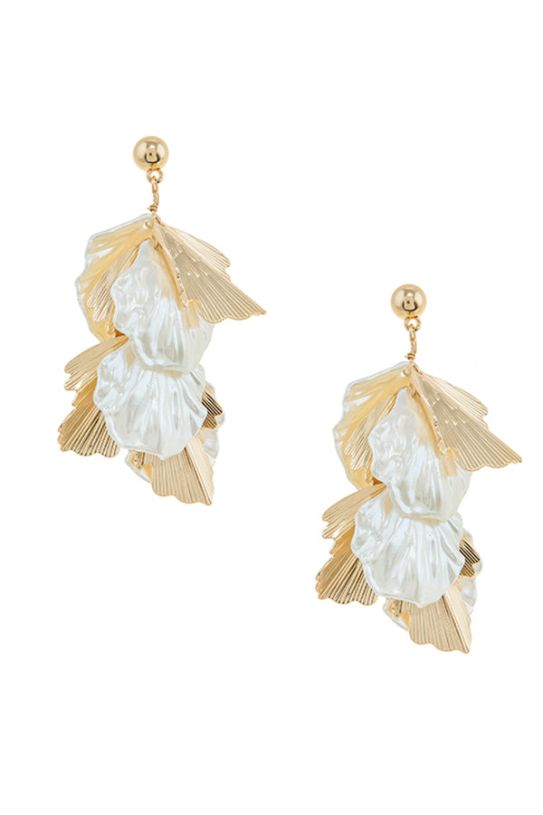 Mother of Pearl Bridal Statement Earrings