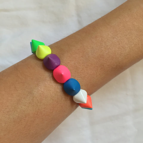 Coloured spike 6 Bracelet - My Jewel Candy
