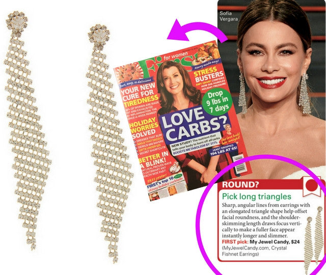 Crystal Fishnet Earrings (As seen in Life & Style and First for Women) - My Jewel Candy - 1