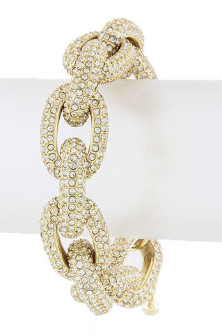 The Princess Kate Chunky Crystal Encrusted Chain Bracelet - My Jewel Candy - 1