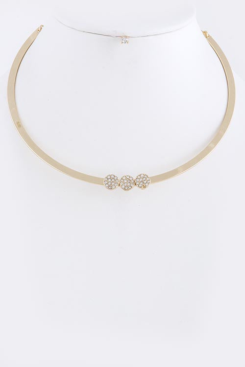 Crystal Circle Collar Necklace - My Jewel Candy