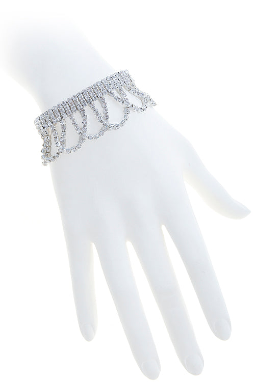 Crystal Draped Bracelet