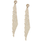 Crystal Fishnet Earrings (As seen in Life & Style and First for Women) - My Jewel Candy - 2