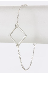 Delicate Diamond Pendant Bracelet - My Jewel Candy