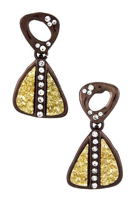 Druzy Triangle Present Earrings - My Jewel Candy