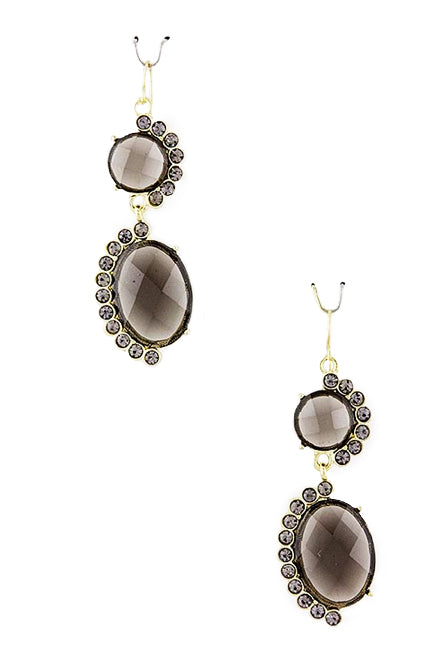 Crystal Swirl Black Earrings - My Jewel Candy