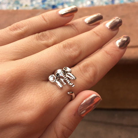 The Hugging Elephant Wrap Ring by Social Saints - My Jewel Candy