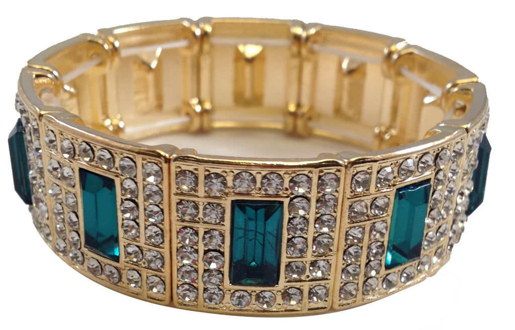 Gatsby Collection Emerald Jeweled Bracelet - My Jewel Candy - 1