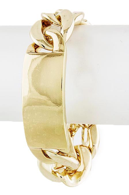 Gold ID Chain Bracelet - My Jewel Candy