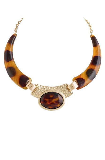 Tortoise Shell Collar Necklace - My Jewel Candy - 1