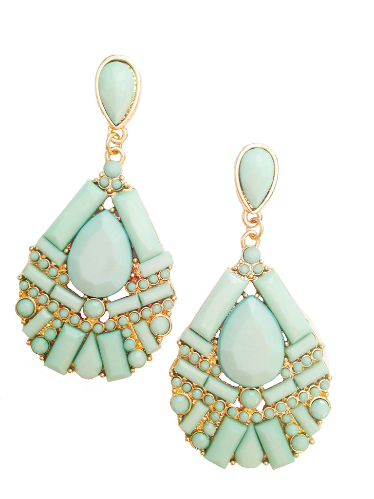 Frosted Mint Earrings - My Jewel Candy