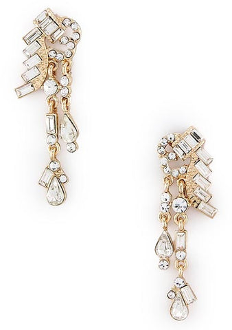 Gatsby Collection Crystal Droplet Earrings - My Jewel Candy