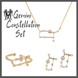 Gemini Zodiac Jewelry Constellation Holiday Gift Set