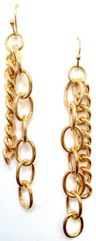 Double Chain Gold Earrings - My Jewel Candy