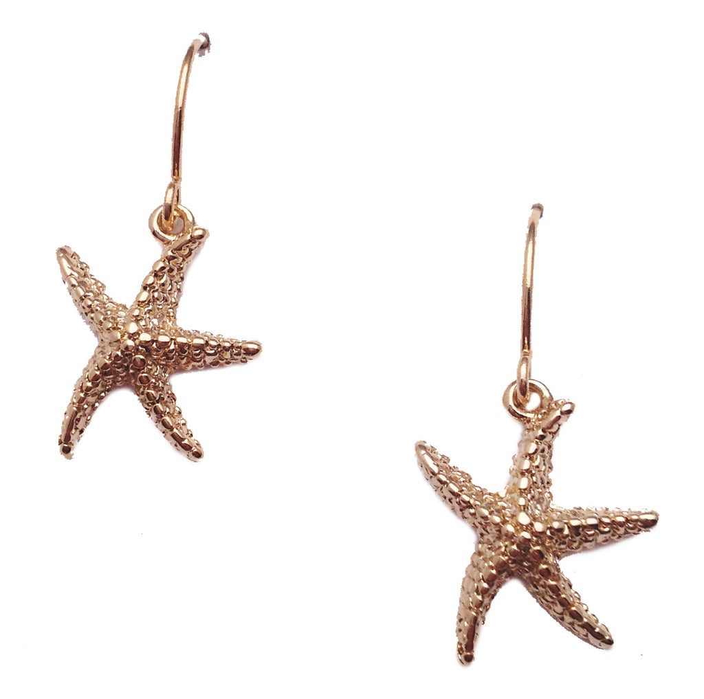 Nautical Collection Gold Star Fish Earrings - My Jewel Candy