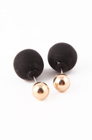 Gold & Black Double-Sided Earrings - My Jewel Candy - 1